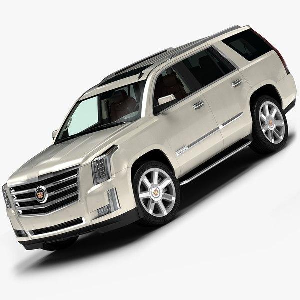 Cadillac Escalade 2015 Used: 3d 2015 Cadillac Escalade Model