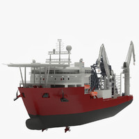 Pipe-laying ship 3D models