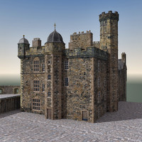 3d edinburgh castle scene model