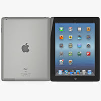 3d apple ipad 2 model