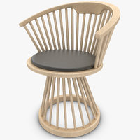 maya realistic fan dining chair