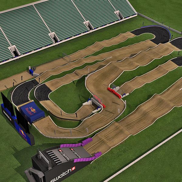 bmx track 3d 3ds