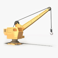 crane cartoon 3d model