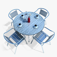 3d cafe table model