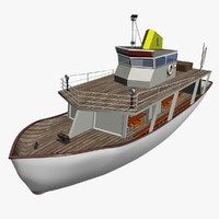 tourist boat 3d max
