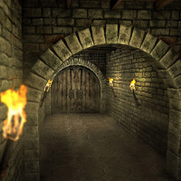Medieval Dungeon Scene