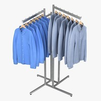 3d model dress shirt rack 1