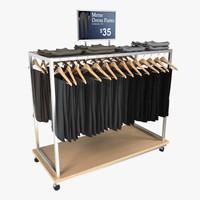 dress pants rack 3d 3ds