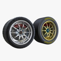 3d wheel volk ce28n model