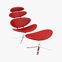 3d model poul m volther corona chair