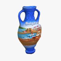 3d bulgaria magnet souvenir 2 model