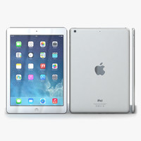 3d apple ipad air silver model