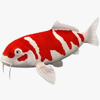 3d model koi fish