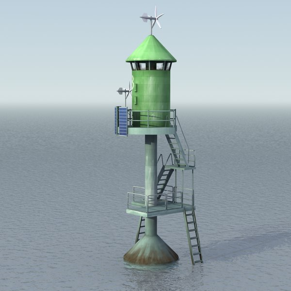 small lighthouse 3d model