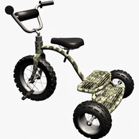 3d dwg army boy tricycle