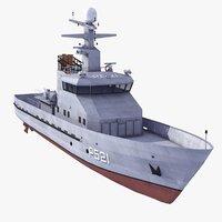 diana class patrol boat 3d model