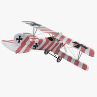 3d ww1 albatros diii fighter aircraft