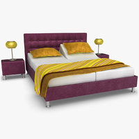 lady adjustable bed purple 3d max
