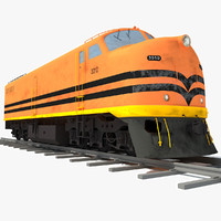 3d model train railway