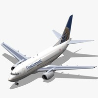 3ds max b 737-500 continental airlines