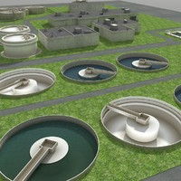 3d max water treatment plant