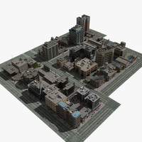 High Resolution Commercial City Block