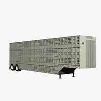 3d model merrit cattle trailer