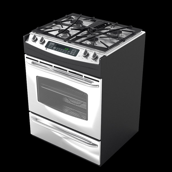 general gas stove 3d max - General Electric Stove... by shop3ds