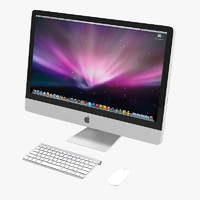 apple imac 3d obj