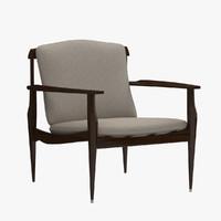 3d 3ds joaquim tenreiro chair wood