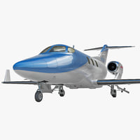 3d model business jet honda ha-420