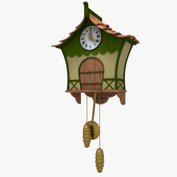 Cartoon coucoo clock stylized cartoon cuckoo clock by jessup3d
