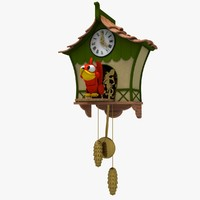 Stylized Cartoon Cuckoo Clock