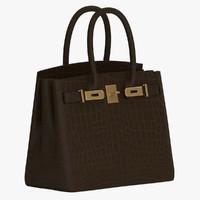 3d dwg hermes birkin handbag
