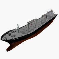 bulk carrier vessel 3d model
