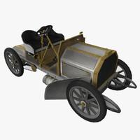 1901 35-hp mercedes 3d model
