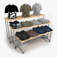 3d model t-shirt table shirts