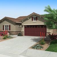 3d house interior exterior model