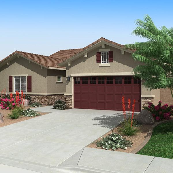 3d house interior exterior model for Exterior 3d model