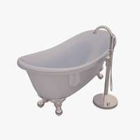 roll bath tub 3d model