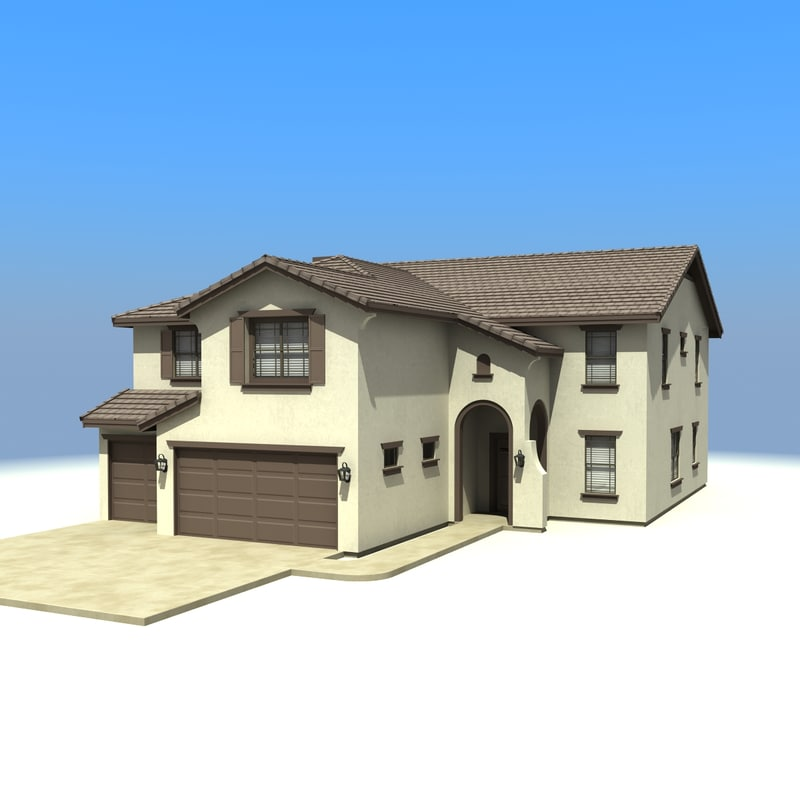 3d house model for Building model houses