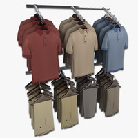 Mens Khaki Pants and Short Sleeved Shirt Wall