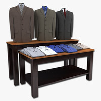 Mens Suits and Folded Shirts