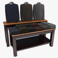 Mens Sweater Display Table