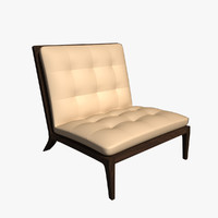3d model leather lounge chair