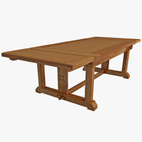 maya solid oak dining table