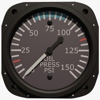Oil Pressure Aircraft Instrument