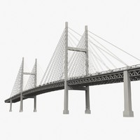 3d suspended bridge bay model