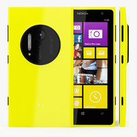 3d model nokia lumia 1020 yellow