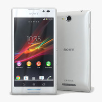 3d model sony xperia c white